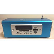 Mini Alto-falante Mox Mo-s912 Radio Portátil Mp3 Fm-cor Azul
