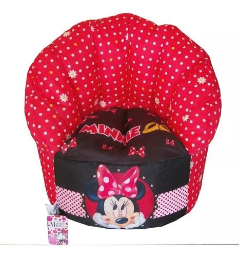Poltrona Puf Sofá Infantil 50cm Minnie Mouse Disney Original