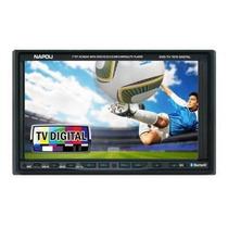 Central Multimidia Napoli 2 Din Dvd-tv 7676 C/ Tv Digital