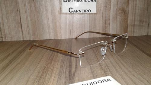 f8cab58c5 Armação Flutuante / Sem Aro Dourada P/ Lentes De Grau Óculos. R$ 49.9