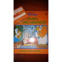 Livro Clássicos Disney A Dama E O Vagabundo /mary Poppins+k7