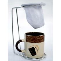 Suporte Para Coador De Café Individual E Caneca De Ceramica