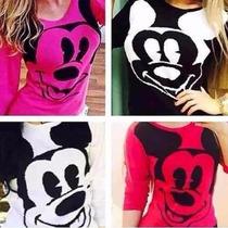 Blusa De Frio Mickey , Tricot , Lã, Roupas Femininas!