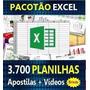 3700 Planilhas Excel 100% Editáveis - Apostilas + Vídeos