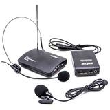 Microfone Sem Fio Wireless Duplo Auricular Headset + Lapela