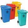 Frete Gratis Carro Coletor Lixo 240 Litros C/ Rodas Borracha