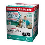 3 Antipulgas Comfortis Cães 9 A 18kg E Gatos De 5,4 A 11kg