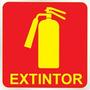 Placa Sinalizadora Auto-adesiva Extintor 15x20cm