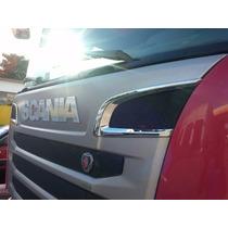 Aplique De Grade Cromado Caminhão Scania
