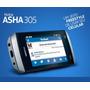 Celular Nokia Asha 305 Cinza.semi-novo + Cartão 2 Gb