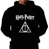 Blusa Moletom Harry Potter Capuz Bolso Filme Calice Frio