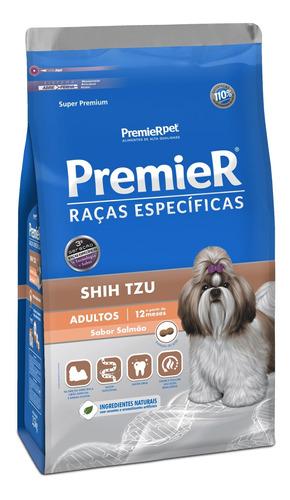Ração Premier Raças Específicas Shih Tzu Super Premium Cachorro Adulto Raça Pequena Salmão 7.5kg
