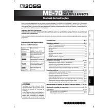 Manual Boss Me-70 Português - Em Pdf