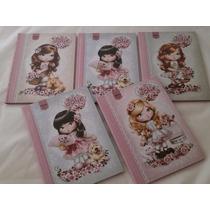 Caderno Brochura Jolie Capa Dura 48 Fls. Kit C/ 05 Cadernos