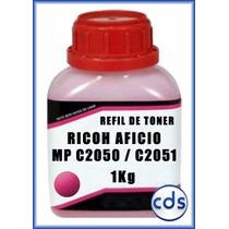 Refil Toner Kilo Ricoh Aficio Mpc 2050 2051 Magenta 1kg