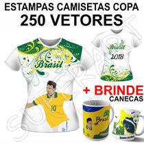 Vetores Copa Estampas Mundo Camisa 2018 Artes Sublimação
