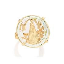 Anel Ouro Folheado Nossa Senhora Aparecida Rommanel 511590