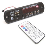 Placa Decodificador Usb P/ Caixa Ativa Mp3 Fm Aux Bluetooth