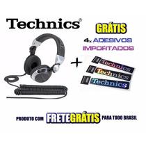 Fone Technics Rpdj 1210 1200 Mk2 S9 Serato Gratis 4 Adesivos