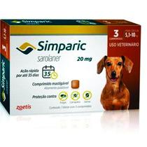 Antipulga Simparic 20 Mg 5 A 10 Kg - 3 Comprimidos - Jul/20