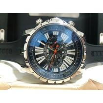 Relógio Top Roger Dubuis Preto Aço Cronometer 48mm Kingbr