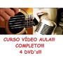 Curso De Violão + Canto! Aulas Em 4 Dvds Opv Original