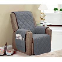Protetor Para Sofa Poltrona Para 1 Lugar C/ Vieis Cor Cinza