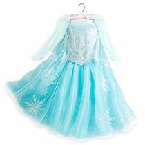 Fantasia Elsa Frozen Original Disney Store Pronta Entrega