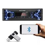 Mp3 Player 1din Usb Radio P3336p New One Fm Bluetooth Carro