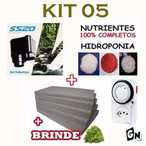 Kit 05 Bomba 110v Espuma Nutriente Temporizador Hidroponia