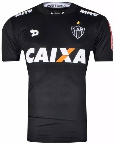 Camisa Atlético Mineiro 2016 Dryworld Preta Third Masculina - R  59 ... b6f8f2d328eef
