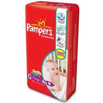 Fralda Pampers Supersec Hiper G 46 Unid