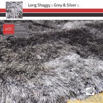 Tapete Long Shaggy, Fio De Seda 70mm, Importado, 1,00x1,50m