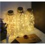 produto Led Luzes Da Corda De Cobre Pilha 3aa 40leds 4m
