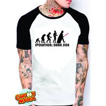 Camiseta Raglan Star Wars Dart Vader Satira Masculina Ou Fem