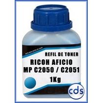 Refil De Toner Kilo Ricoh Aficio Mpc 2050 2051 Cyan 1kg
