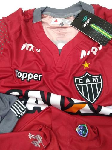 Camisa Goleiro Atletico Mineiro Manga Longa Of. Topper 2017 22a89c832032f
