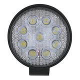 Farol De Milha Led Redondo 10~30v 27w Jeep Troller Pick-up
