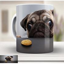 Linda Caneca Cachorro Pug Cute - Xicara Porcelana 737