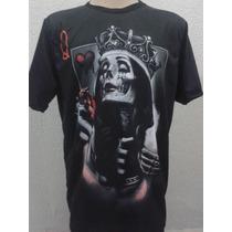Camiseta Camisa Catrina Bone Chicano Lowrider Swag Hip Hop