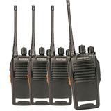 Kit 4 Radio Comunicador Walk Baofeng 777s Alcance 12km 16 Ch