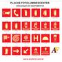 130 Placas De Sinalização Extintor Fotoluminescente 21x21cm