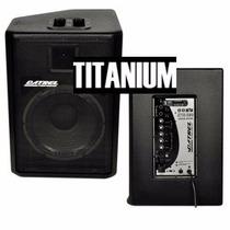 Kit Caixa De Som Ativa Passiva 500w Rms Datrel Titanium