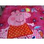 Manta Cobertor Peppa Pig Melancia, Solteiro, Microfibra
