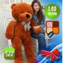 Urso Pelúcia Gigante 1metro E 40cm Teddy Bear Pronta Entrega