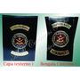 Distintivo C/ Brasão Fuzileiro Naval Em Couro