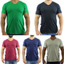 Kit 5 Camiseta Gola V Lisa Camisa Blusa Tamanho Plus Size Original