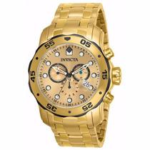 Relógio Invicta 80070 Pro Diver Ouro 18k Original
