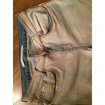 Calça Jeans Lança Perfume Detalhes Dourados 40