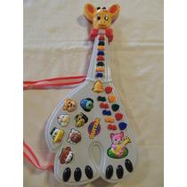 Guitarra Musical Infantil Girafa 26 Teclas Som Música